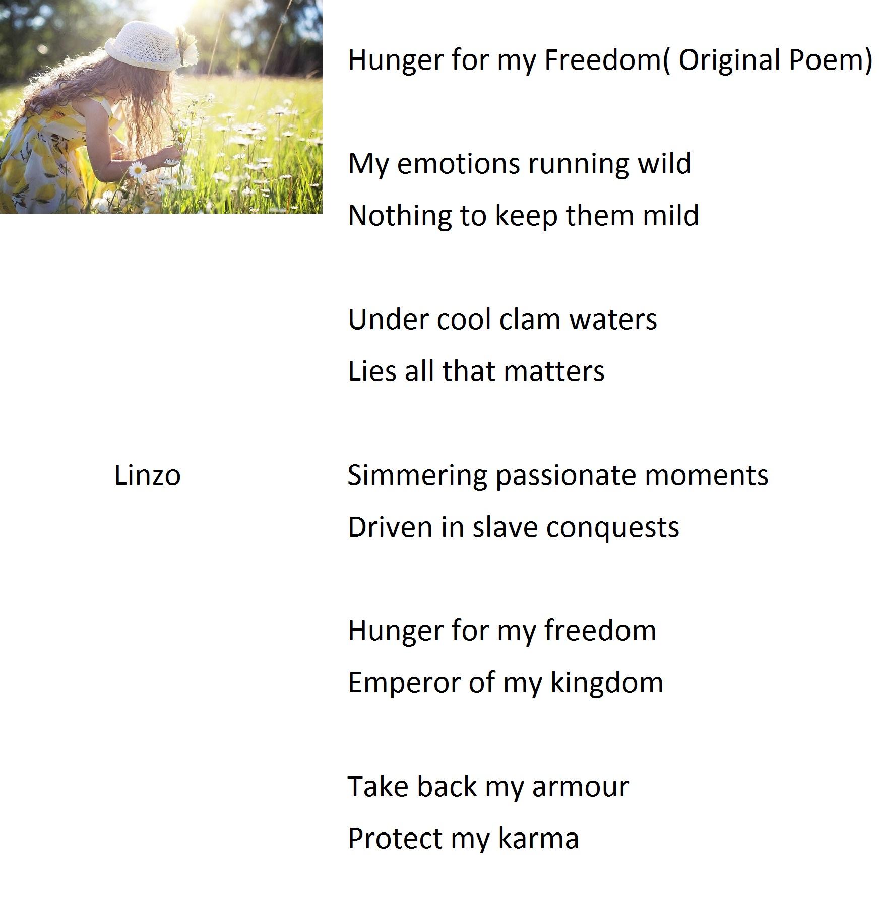 Hunger for my Freedom( Original Poem)